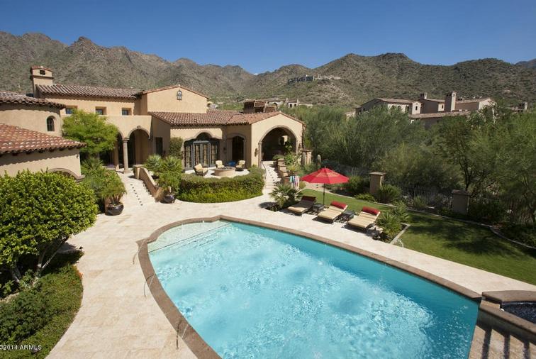 8 25 Million Spanish Style Mansion In Scottsdale Az