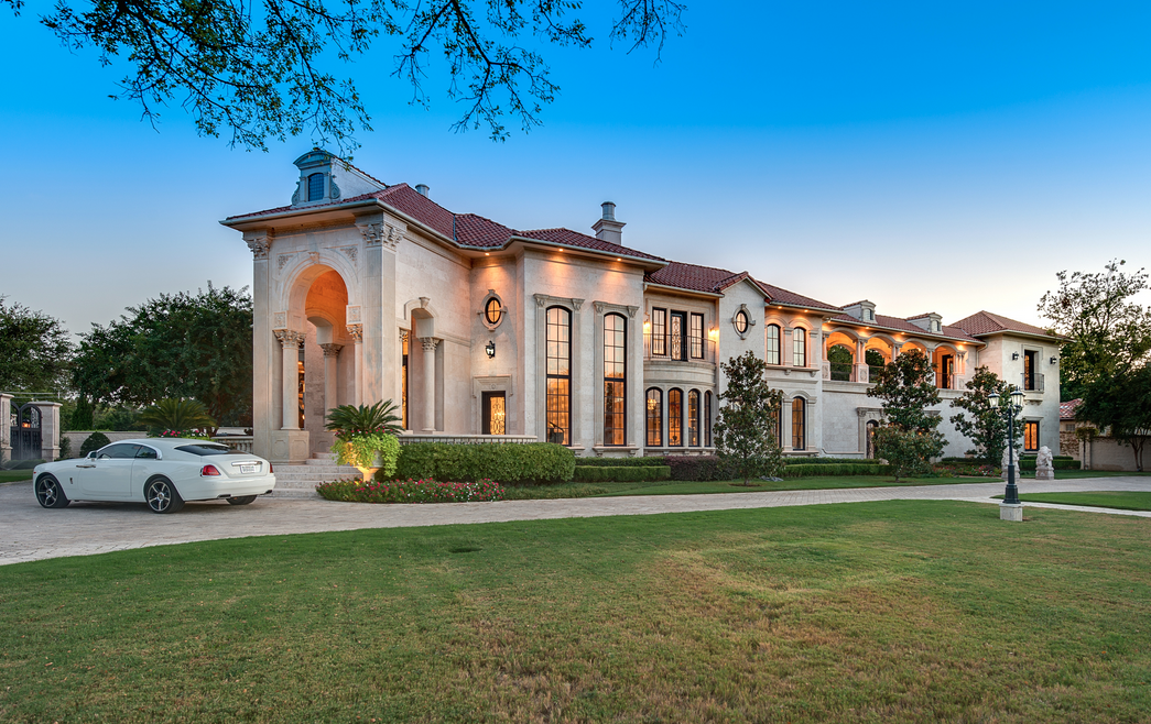 Million 10 000 square foot mediterranean mansion in for Home building cost per square foot texas