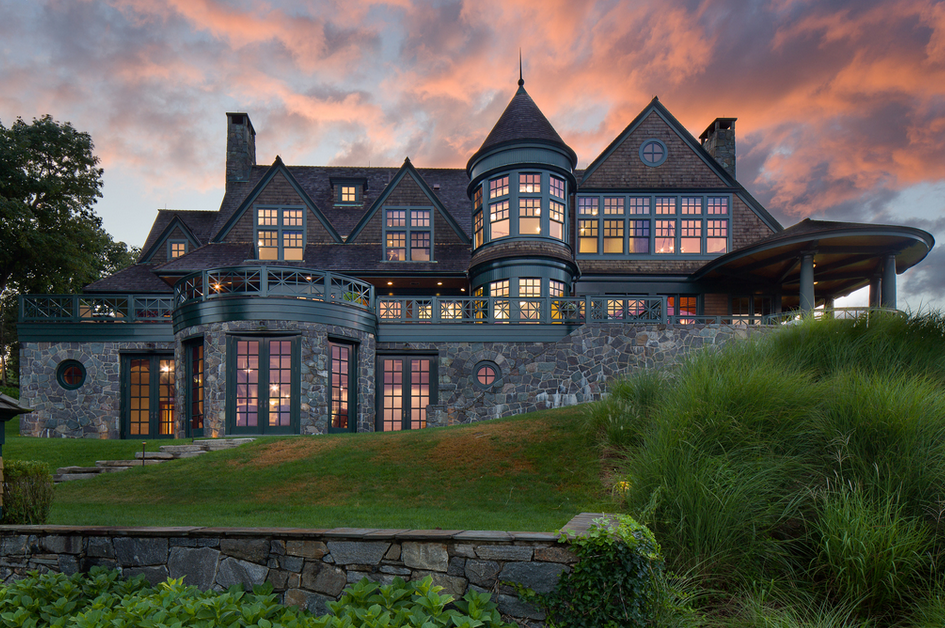 22 Million Waterfront Shingle Mansion In Rye Ny Homes