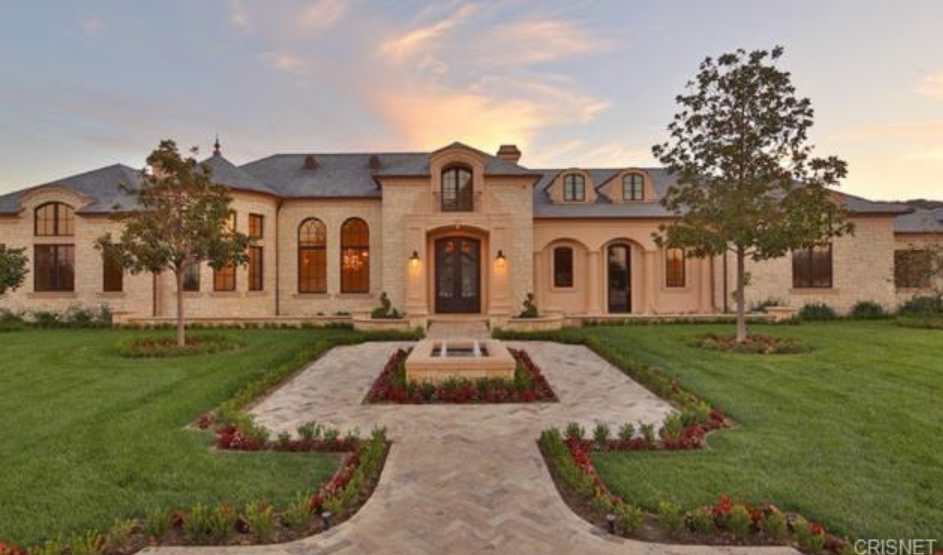 14 295 Million Newly Built French Inspired Mansion In Hidden Hills Ca on Custom One Story Homes Plans