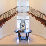 2-story Foyer w/ Double Staircae
