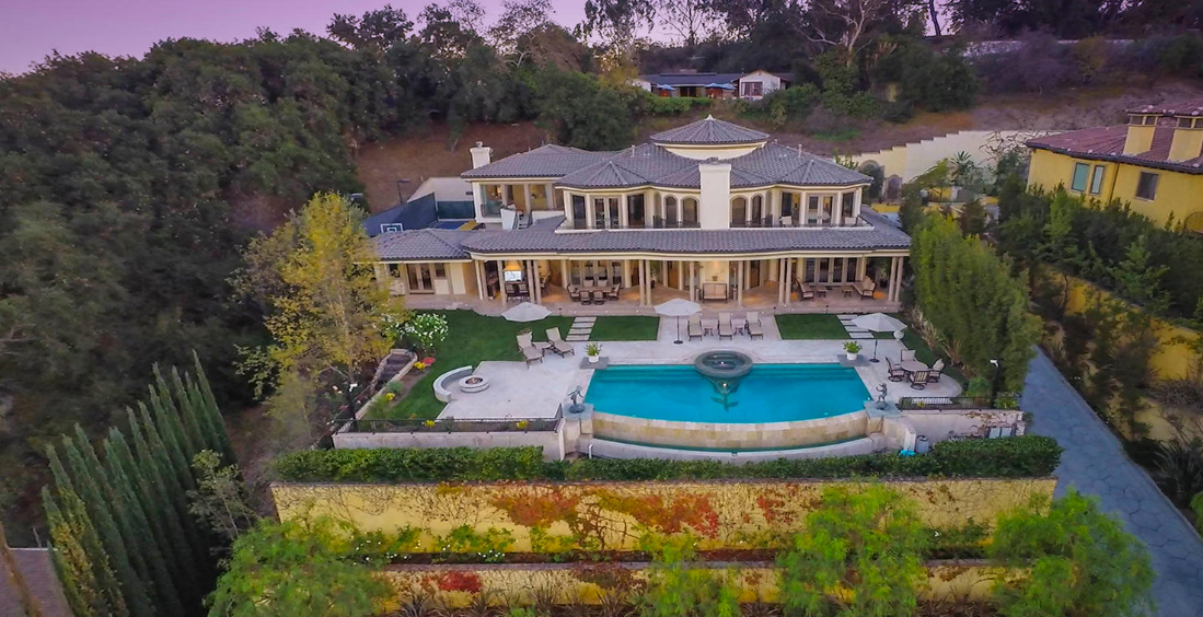 5 9 Million Gated Mediterranean Mansion In Sherman Oaks