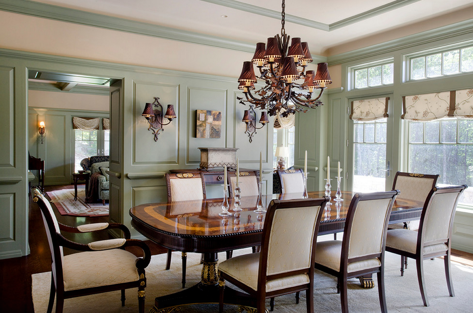 A Look At Some Paneled Dining Rooms Homes Of The Rich