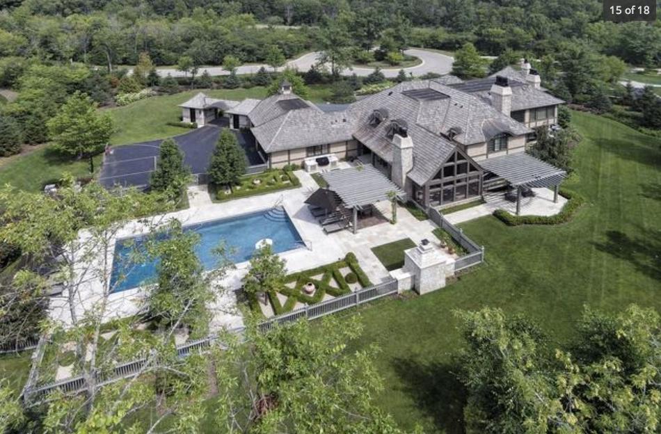$3.9 Million Brick & Stucco Mansion In Bannockburn, IL