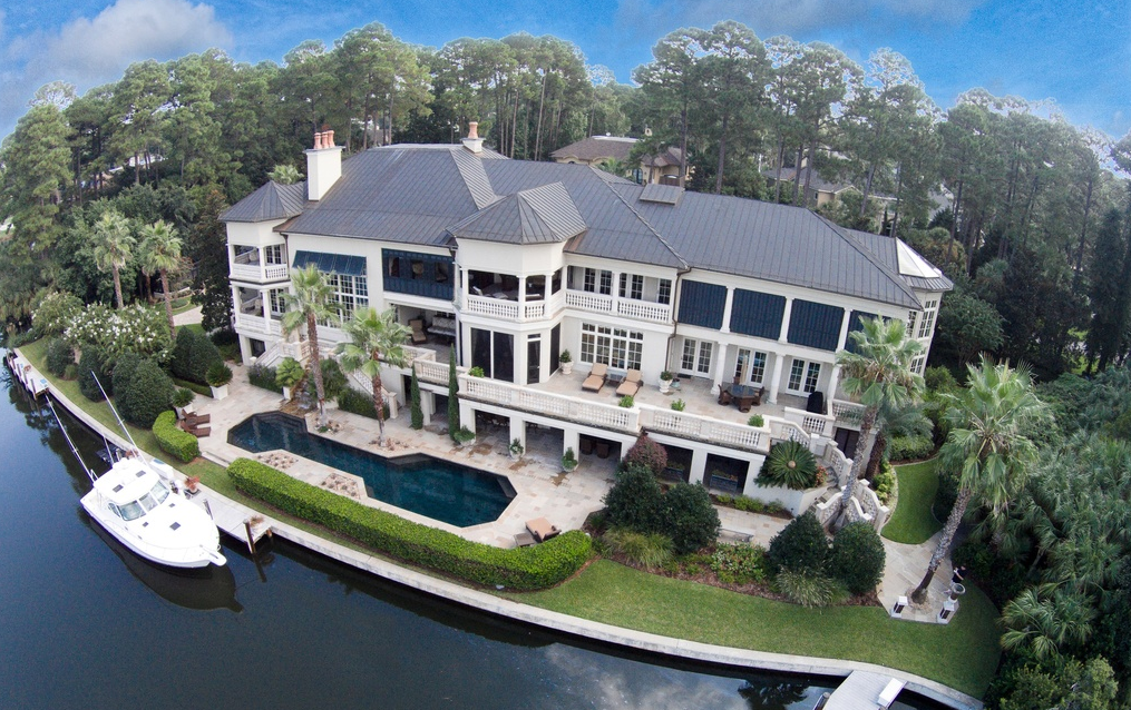 7 4 million waterfront mansion in hilton head island sc homes of