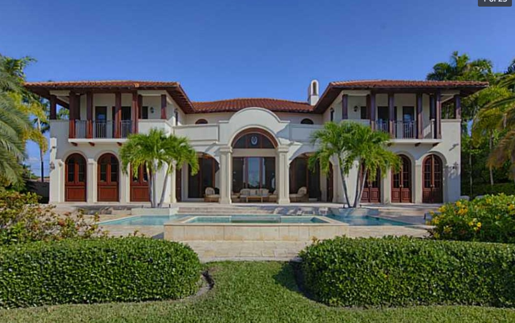 $15.75 Million Newly Listed Waterfront Mansion In Bay Harbor Islands, FL