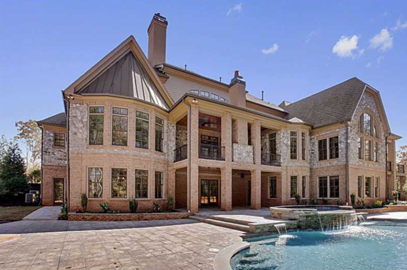$3.9 Million Newly Built 16,500 Square Foot Stone Mansion In Alpharetta, GA