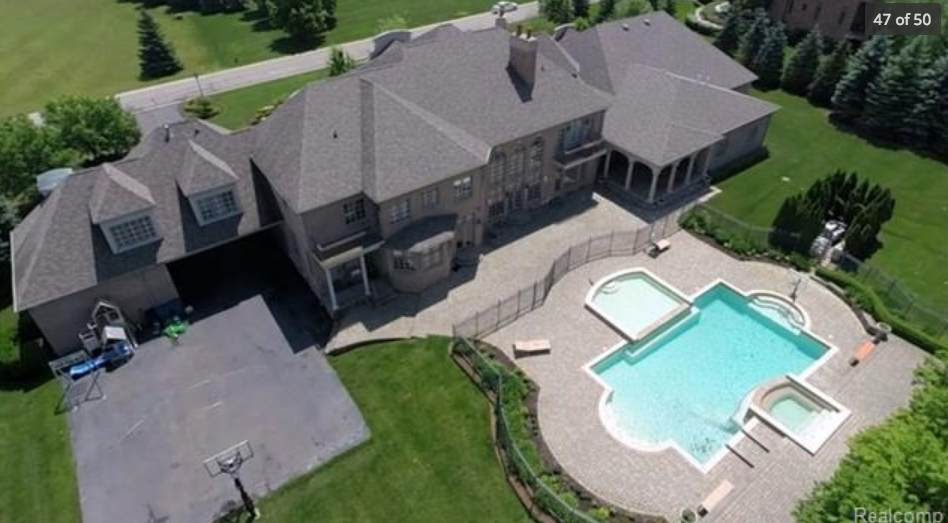 19,000 Square Foot Mansion In Oakland Township, MI With Indoor Basketball Court