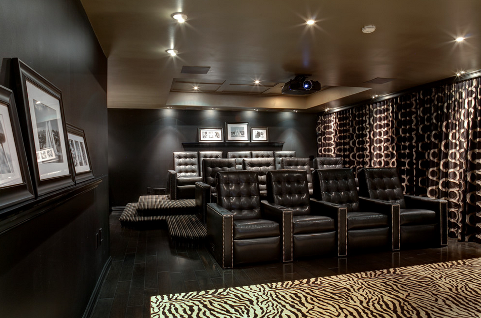 High-End Entertainment Space By Maxey Hayse Design Studios, Inc