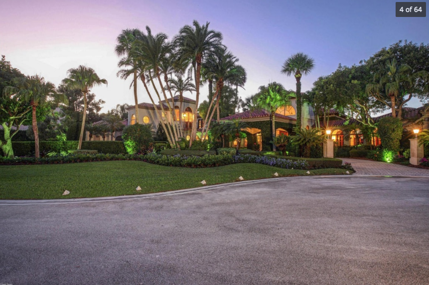 16,000 Square Foot European Inspired Lakefront Mansion In Palm Beach Gardens, FL