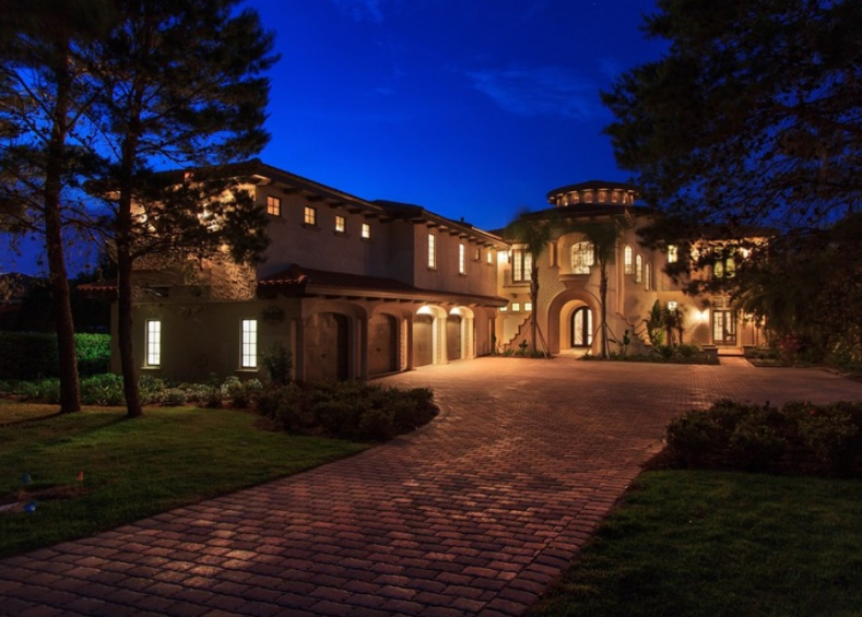 11,000 Square Foot Tuscan Inspired Lakefront Mansion In Montverde, FL