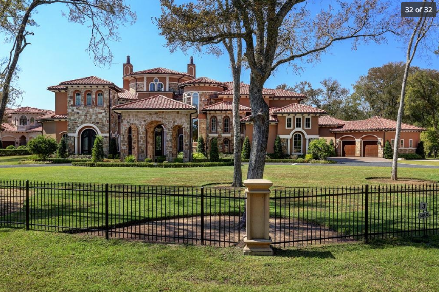 13,000 Square Foot Stone & Stucco Mansion In Richmond, TX