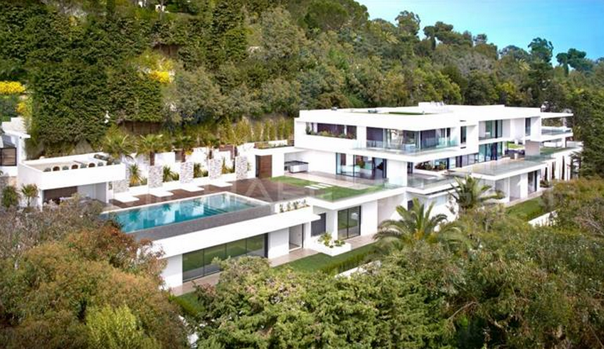 11 000 square foot newly built modern mansion in cannes france homes of th - Masion design in france ...