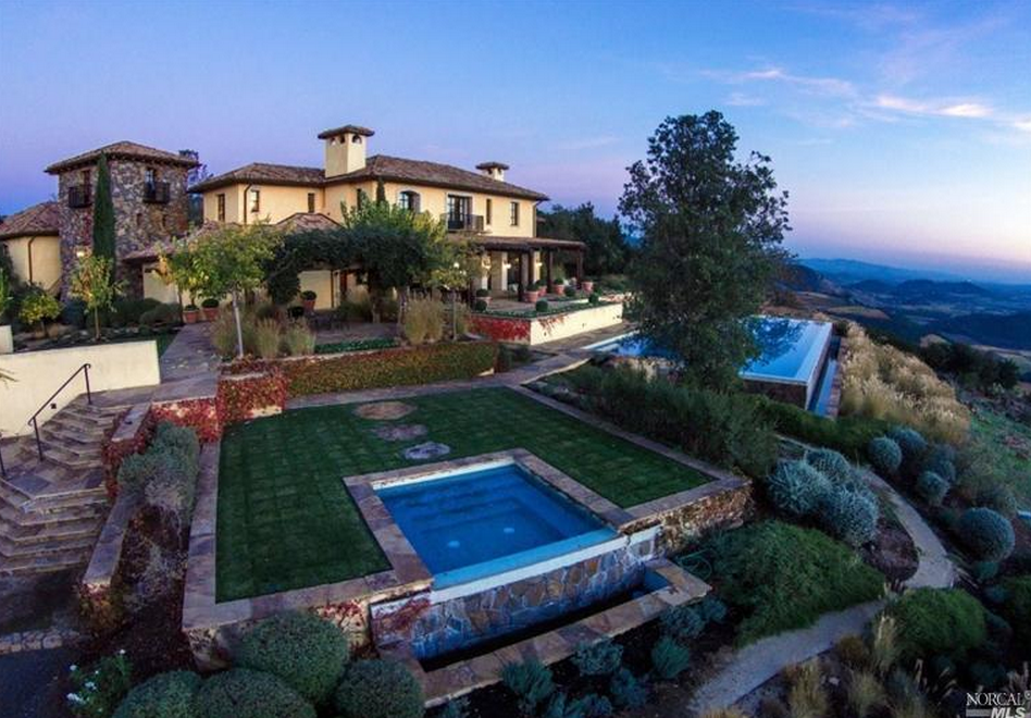 $27.5 Million 12,000 Square Foot Hilltop Mansion In St. Helena, CA