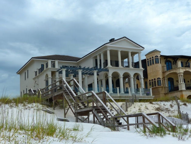 $6.495 Million French Provincial Beachfront Home In Santa Rosa Beach, FL