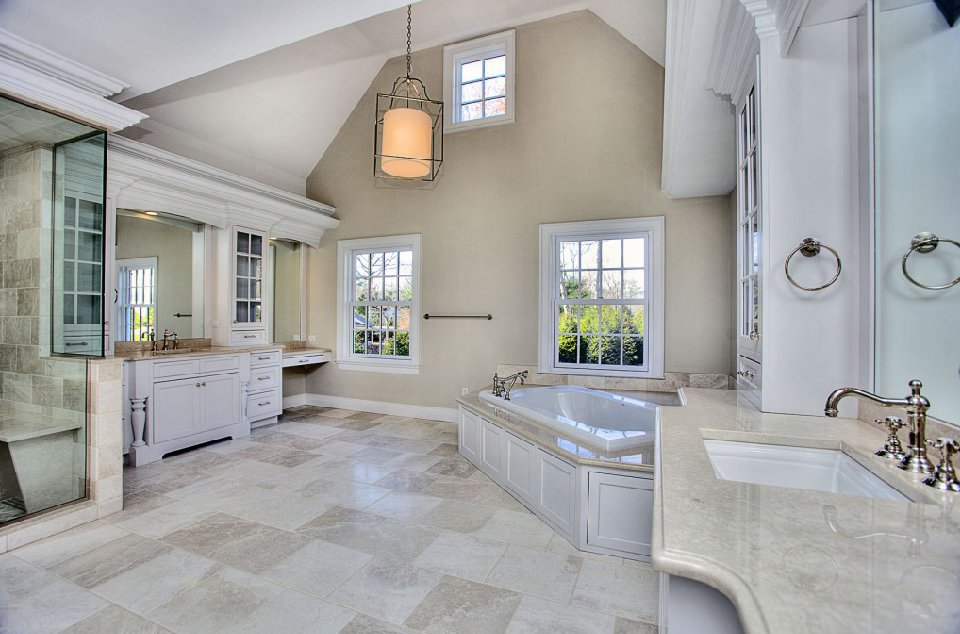 4 million newly built stone shingle colonial mansion in for Bathroom 75 million