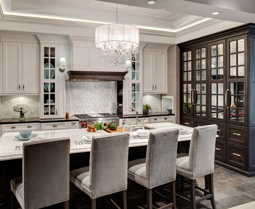A Look At Some Elegant Gourmet Kitchens Homes Of The Rich
