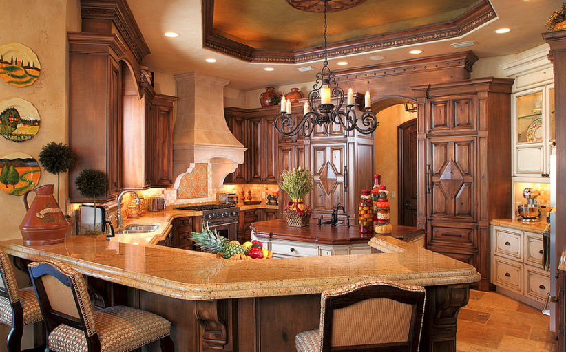 A Look At Some Elegant Gourmet Kitchens