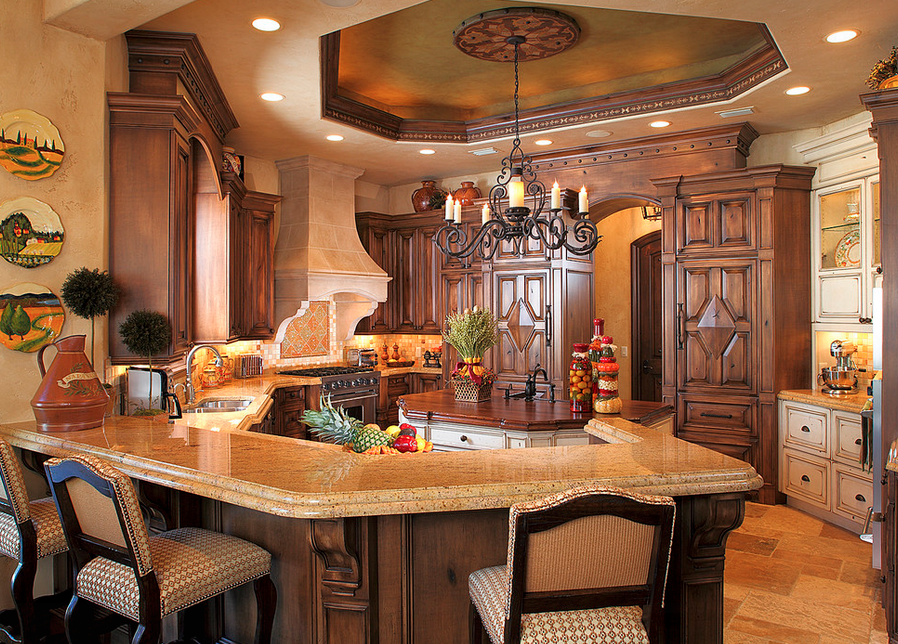 A look at some elegant gourmet kitchens homes of the rich - Beautiful home interior color ideas ...