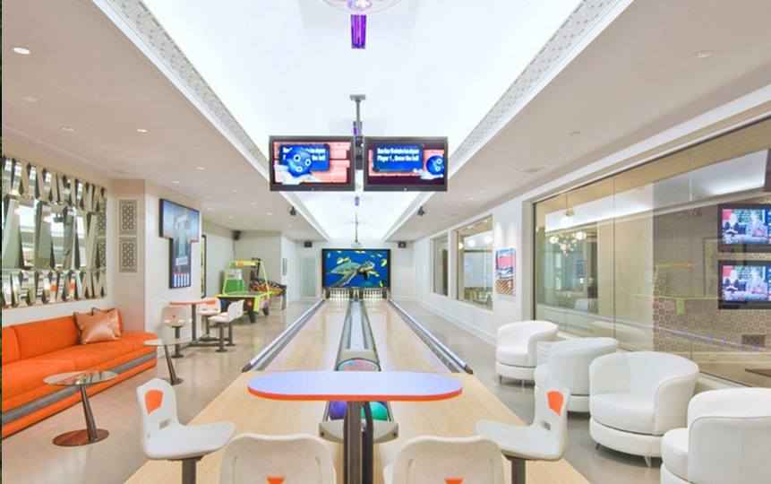Bowling Alleys Homes The Rich