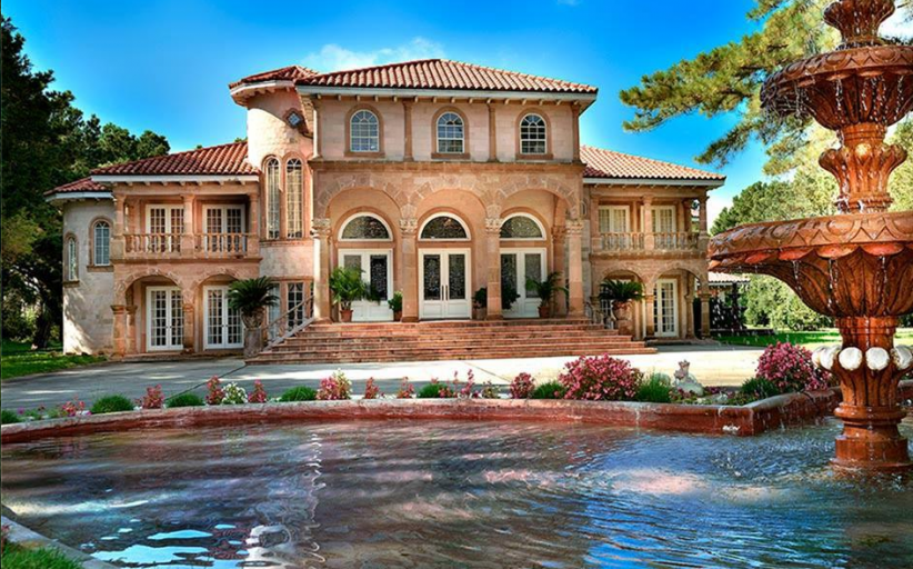 18,000 Square Foot Estate In Spring, TX With Indoor Pool & 12-Car Garage