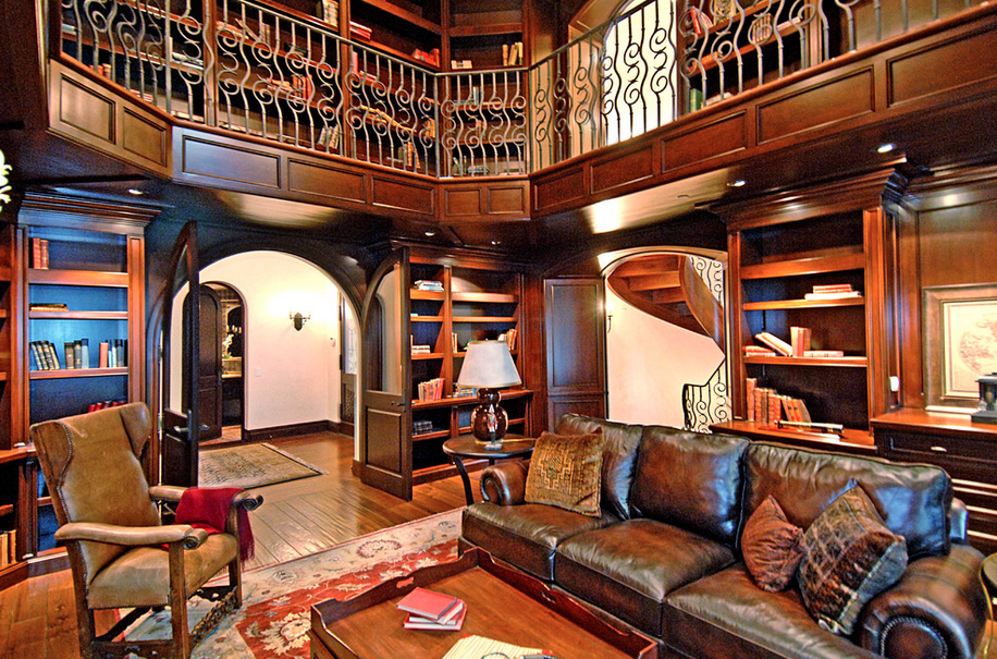 2 Story Libraries Homes Of The Rich