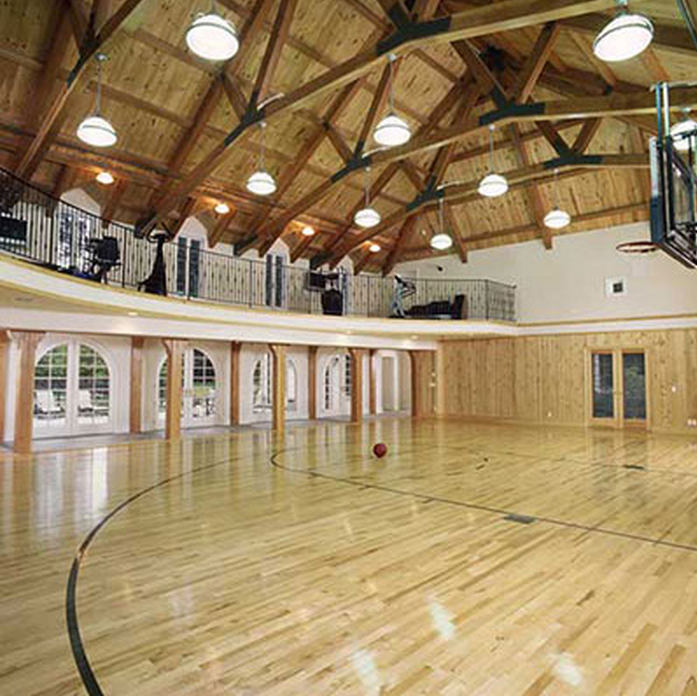 Indoor basketball courts homes of the rich for How to build basketball court