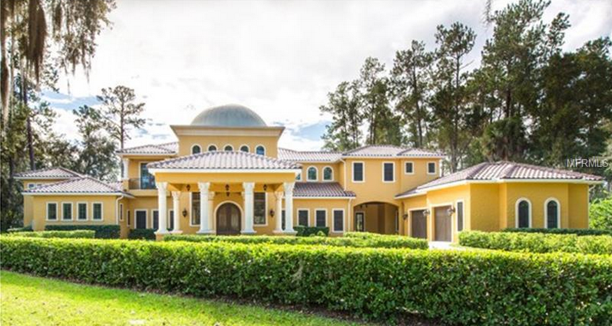$3 Million Newly Listed Lakefront Mansion In Longwood, FL