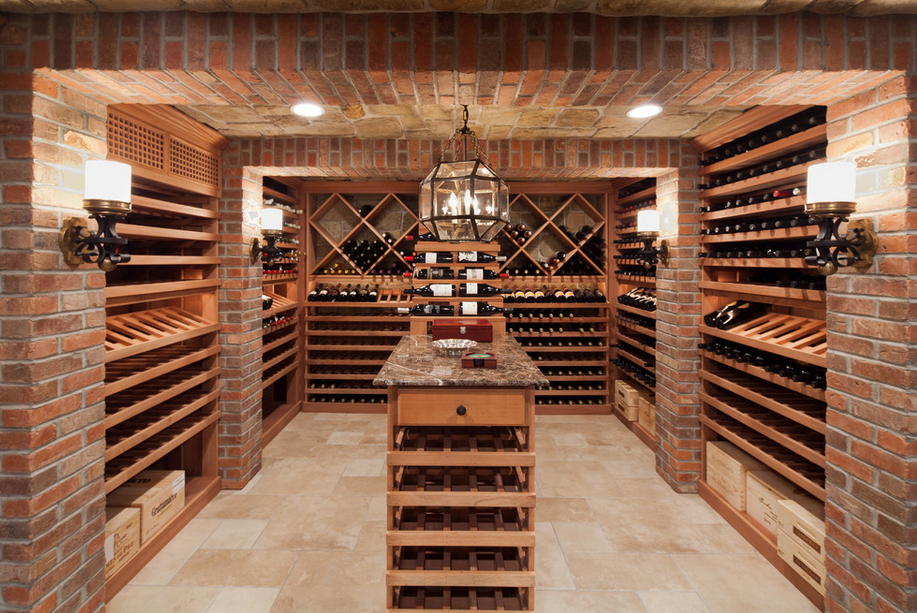 Wine cellars homes of the rich for Wine cellar floor plans