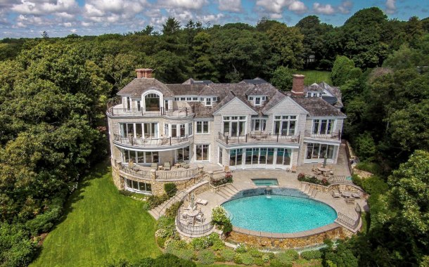 $13.9 Million Waterfront Shingle Mansion In Osterville, MA