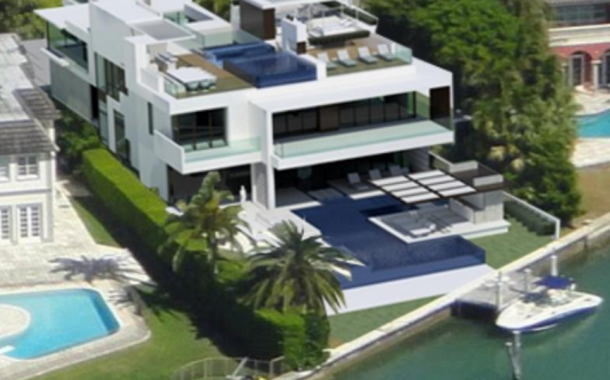 $35.9 Million Modern Waterfront Mansion Under Construction In Miami Beach, FL