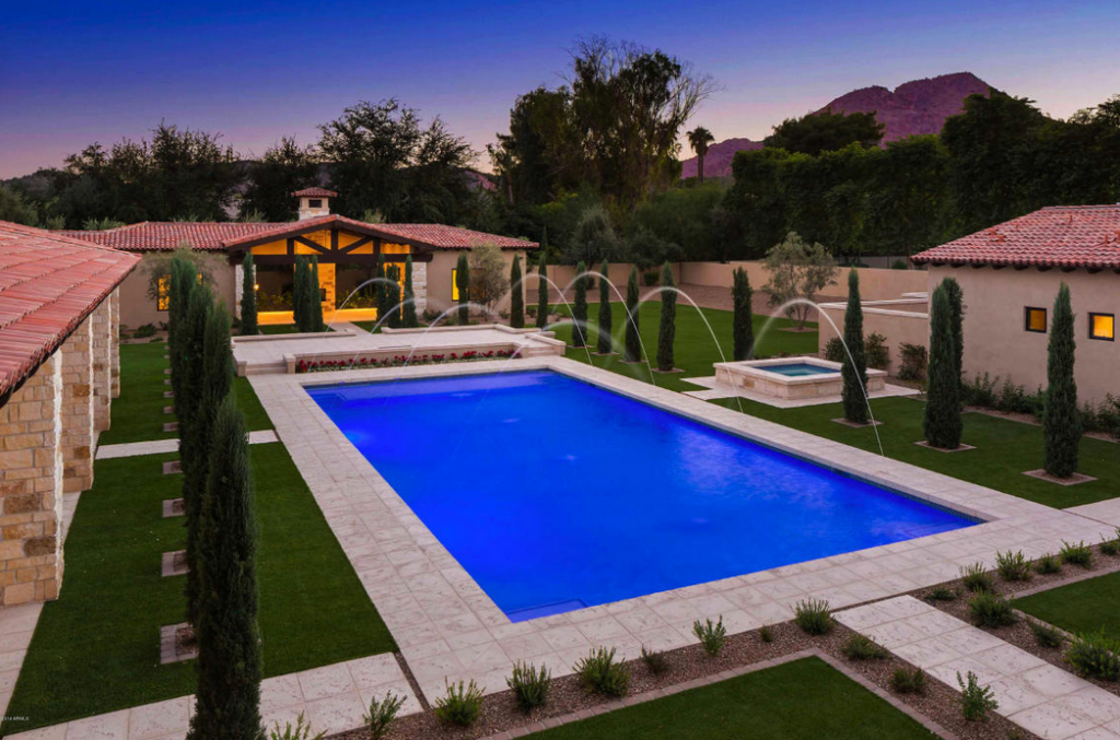 8 9 million newly built 19 000 square foot estate in paradise valley az homes of the rich