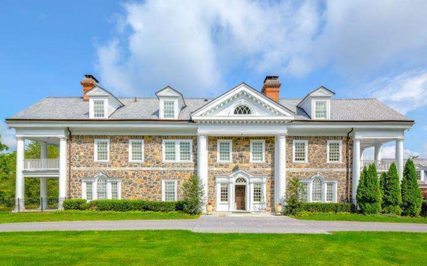 $3.4 Million 13,000 Square Foot Stone Colonial Mansion In Devon, PA