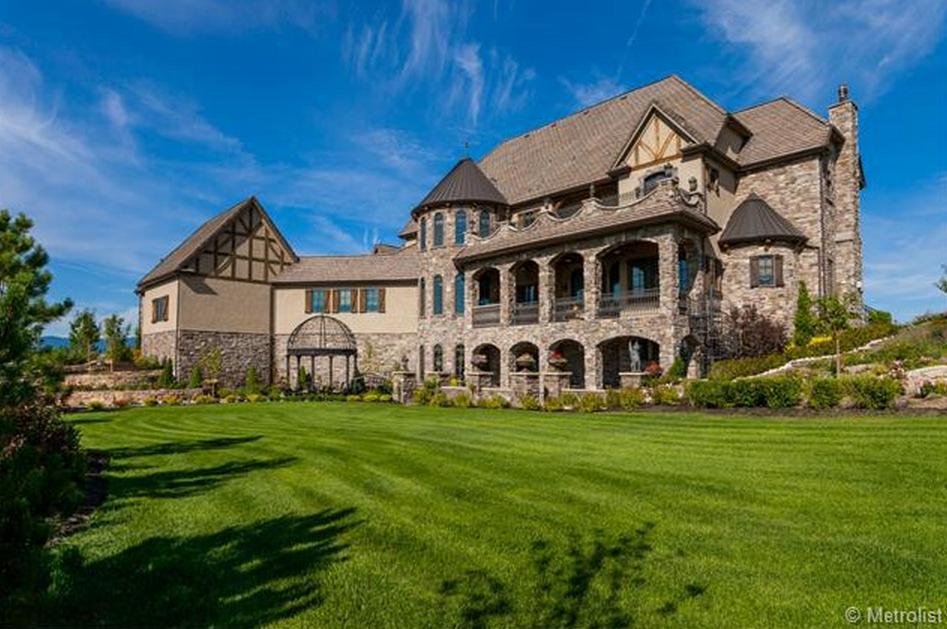 $2.75 Million English Tudor Style Brick & Stone Mansion In ...