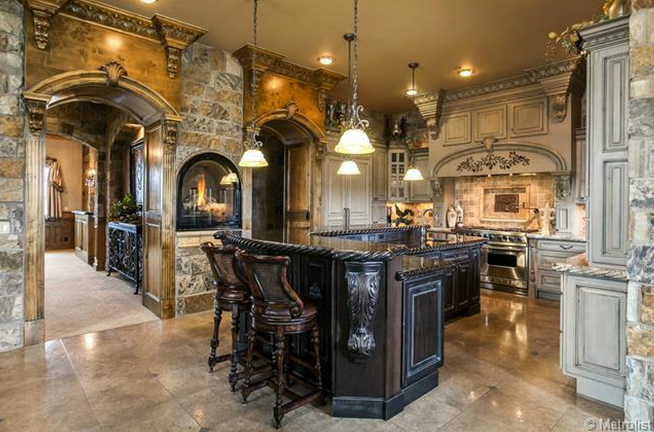 $2.75 Million English Tudor Style Brick & Stone Mansion In Littleton, CO
