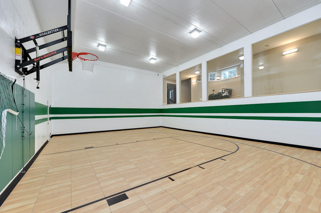 Million 12 000 square foot mansion in summit wi for How many square feet is a basketball court