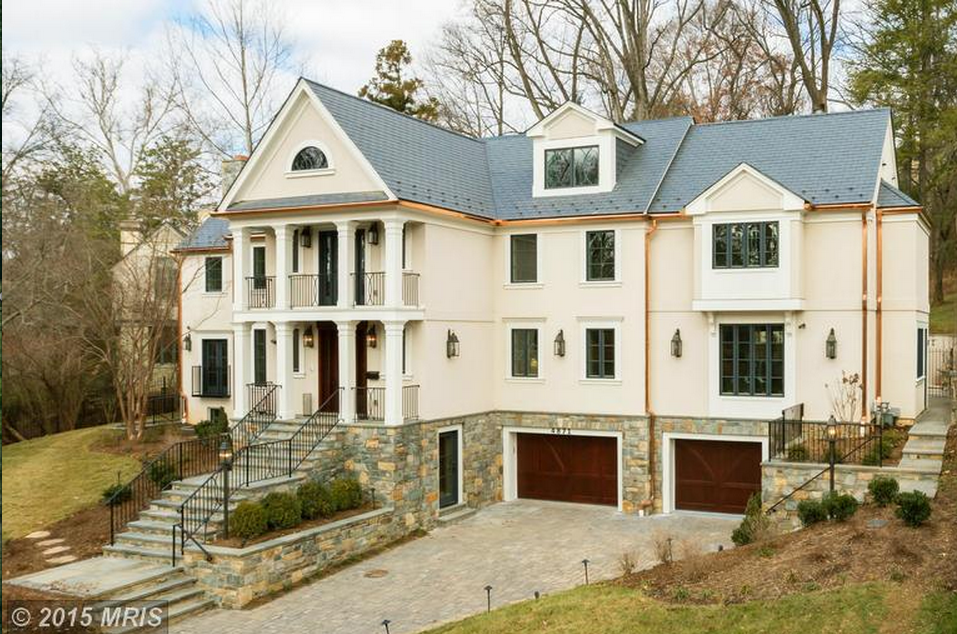 5 5 Million Stone Stucco Colonial Home In Washington Dc on French Country Luxury House Plans