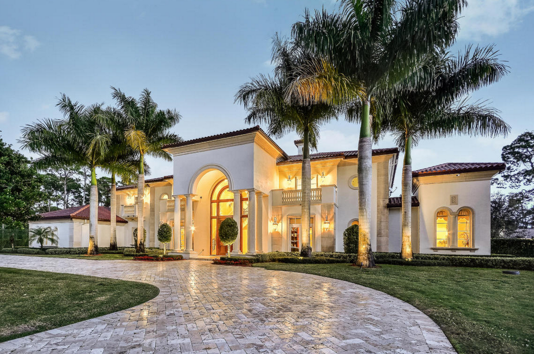 12 000 square foot newly listed mansion in parkland fl for Modern houses in florida