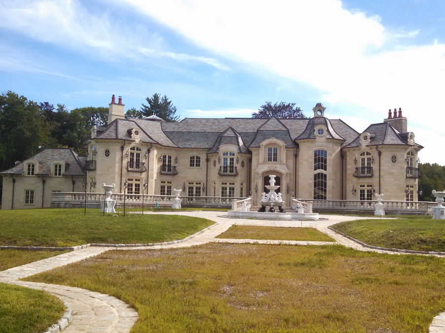 Gorgeous newly built stone mansion in old brookville ny for Nyc mansions for sale