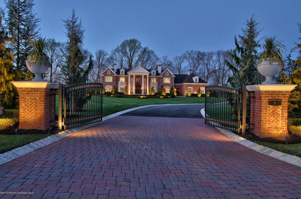 $4.5 Million Brick Colonial Mansion In Colts Neck, NJ