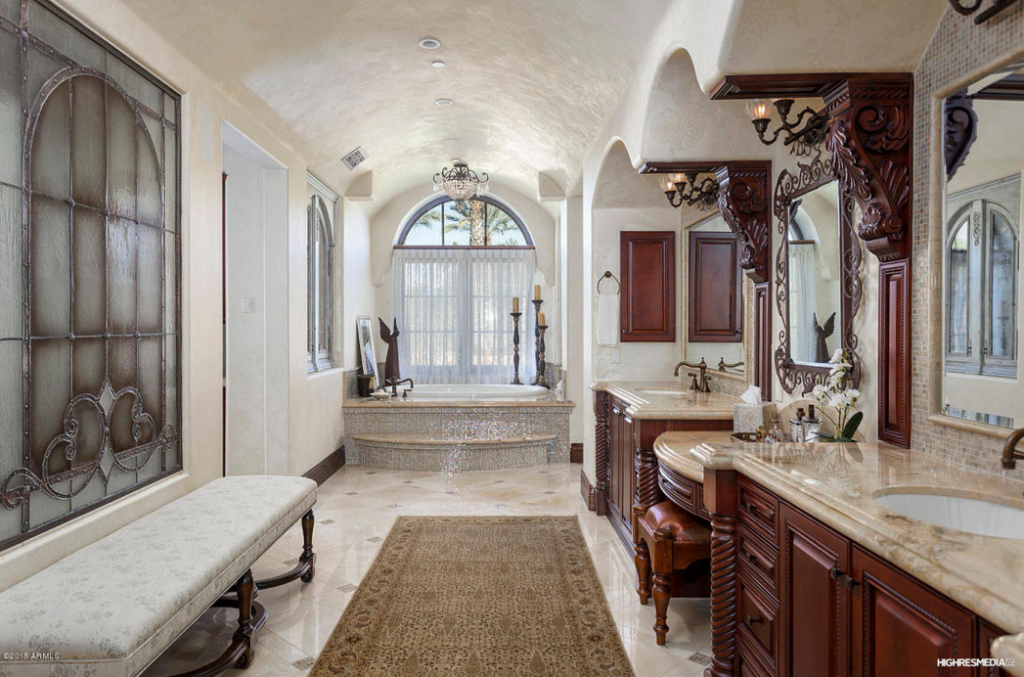 Million tuscan inspired 12 000 square foot mansion for Bathroom 75 million