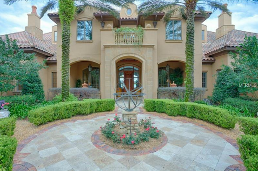 $7.3 Million Newly Listed Lakefront Mansion In Windermere, FL