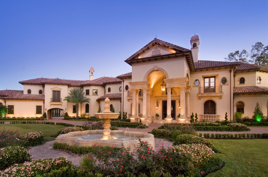 Stunning mediterranean mansion in houston tx built by for Texas fine home builders