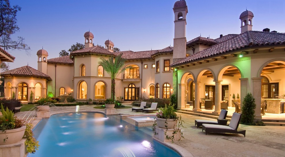 Stunning mediterranean mansion in houston tx built by for Castle style homes for sale