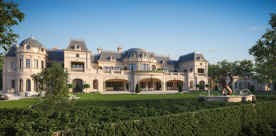 Stunning french chateau design from cg rendering homes for Chateau style home plans
