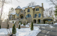 $5.295 Million Newly Built 11,000 Square Foot French Provincial Mansion In Bethesda, MD