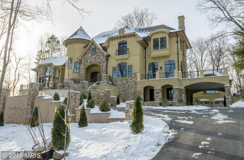5 295 Million Newly Built 11000 Square Foot French Provincial Mansion In Bethesda Md on living room home plans