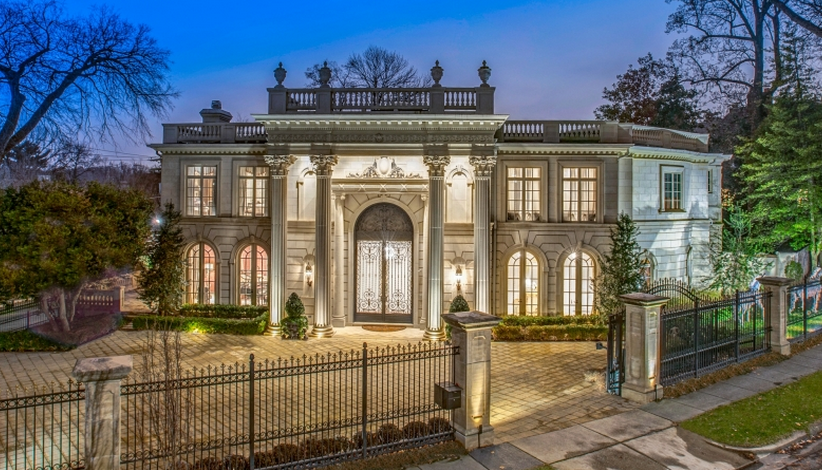 $16.5 Million Newly Listed Beaux Arts Style Mansion In Washington, DC