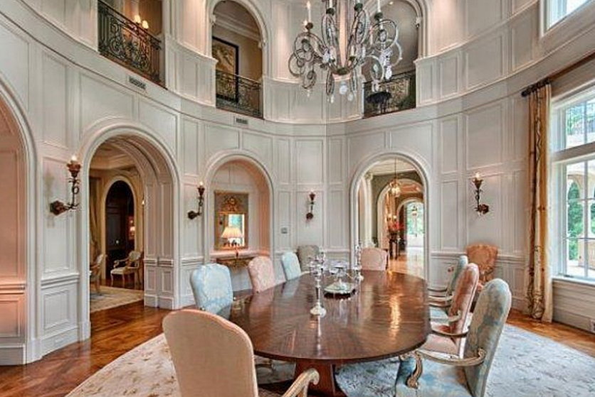 16 Beautiful 2 Story Dining Rooms Homes Of The Rich