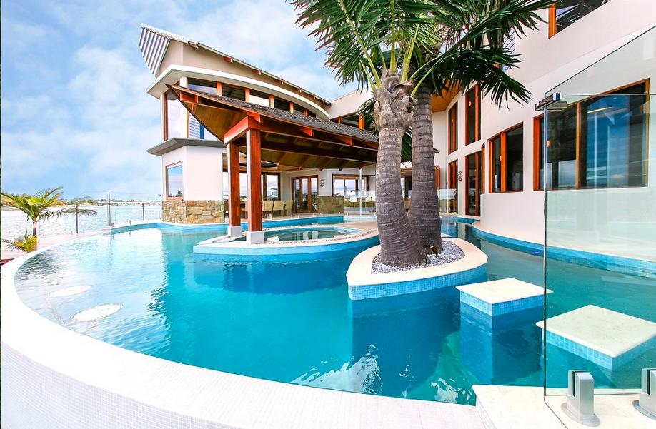 Stunning Contemporary Waterfront Mansion In Queensland Au
